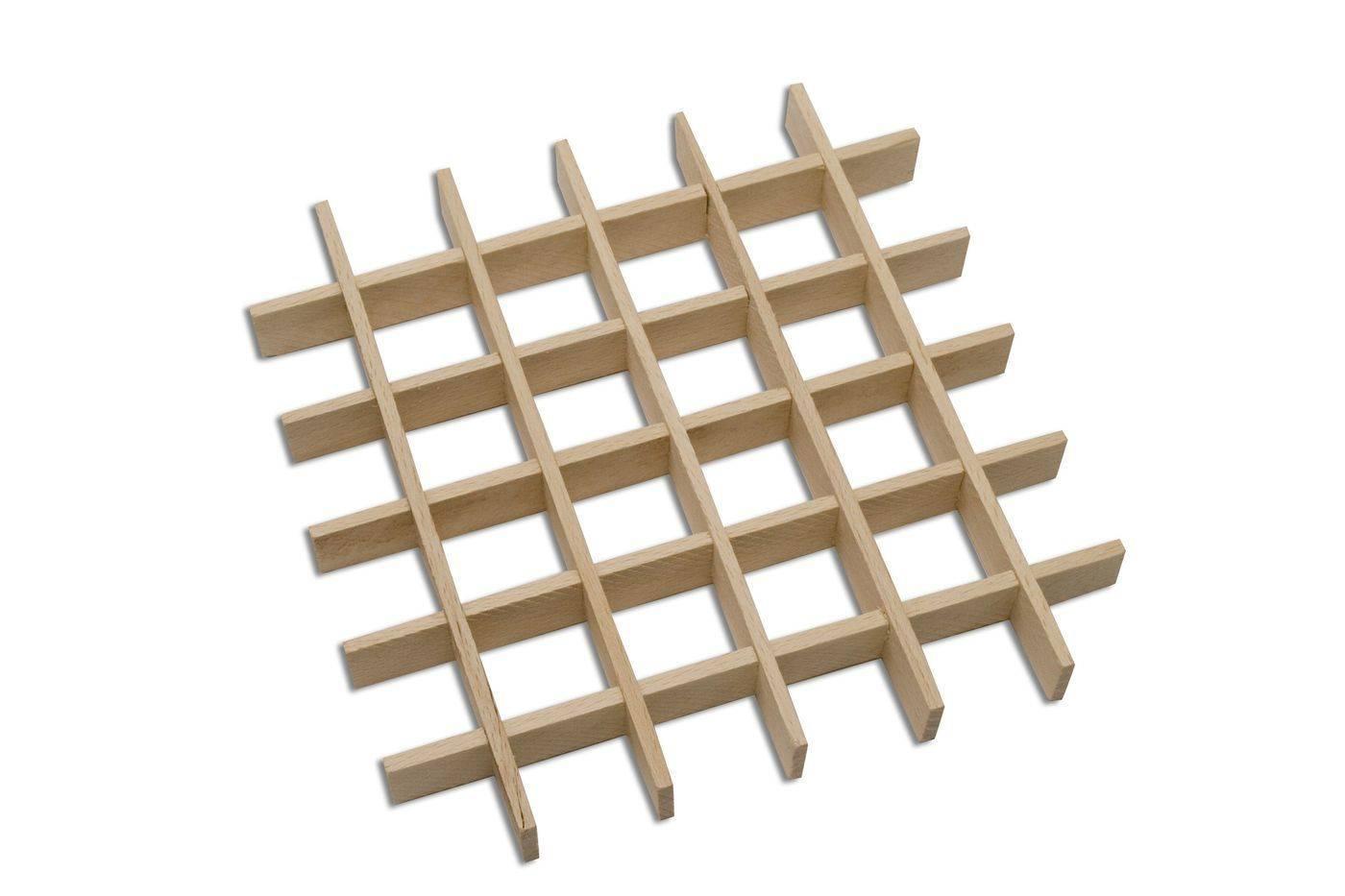 Podložka mřížková - 16 čtverečků, 165 x 165 mm - Dřevovýroba Otradov