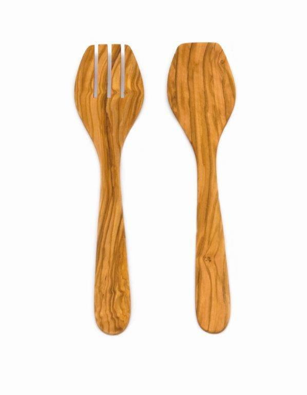 Příbory na salát, olivové dřevo - Klawe