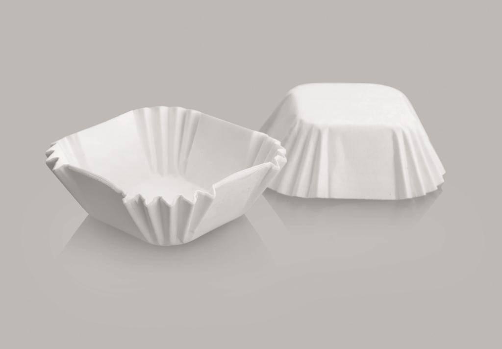 Cukrářský košíček čtvercový set 5x5x3cm – 50ks - Ibili