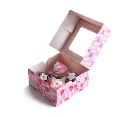Fotografie Krabička na cukroví - růžová 2ks 16x16cm - Ibili
