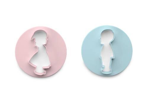 Vykrajovátko - set chlapec + dívka - Ibili
