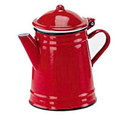 Smaltovaná konvice na kávu 1l - červená - Ibili