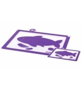 Krájecí prkénko plastové na ryby fialová set – 2ks - Mastrad