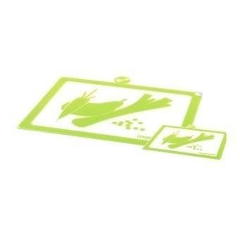 Krájecí prkénko plastové na zeleninu zelená set – 2ks - Mastrad