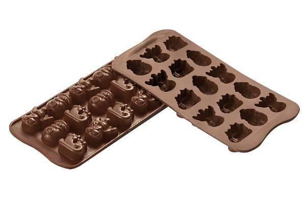 Silikonová forma na čokoládu – veselé Vánoce - Silikomart