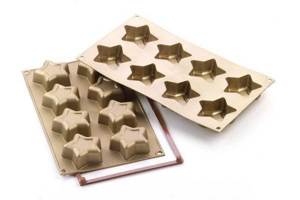 Silikonová forma na pečení – hvězdy - Silikomart