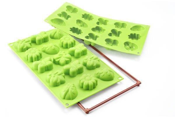 Veselá forma na dortíky – mini jarní zahrada - Silikomart