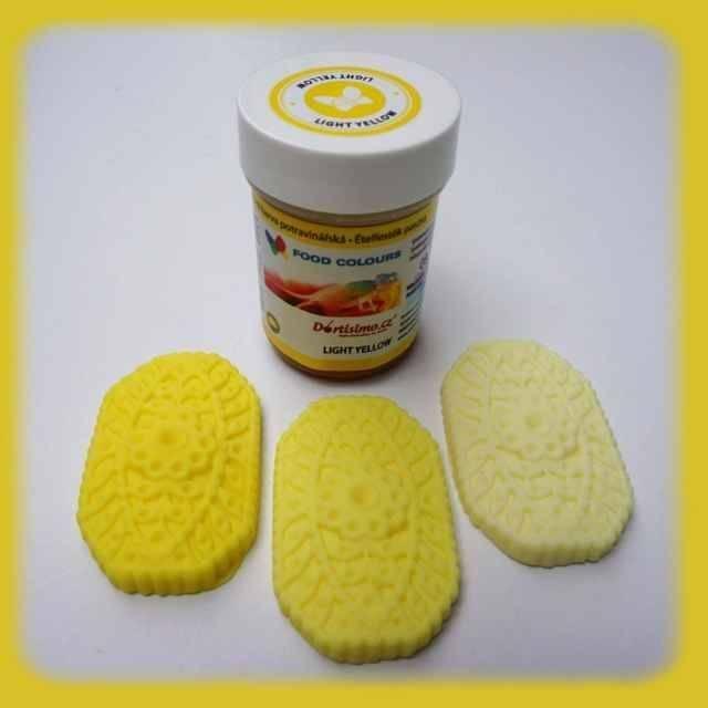 Gelová barva (Light Yellow) světle žlutá 35 g - Food Colours