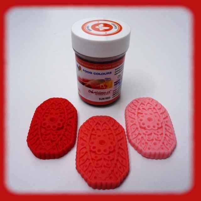 Gelová barva (Sun Red) zářivě červená 35 g - Food Colours