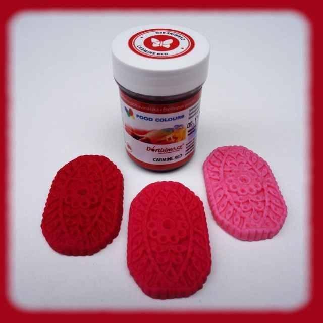 Gelová barva (Carmine Red) karmínově červená 35 g - Food Colours