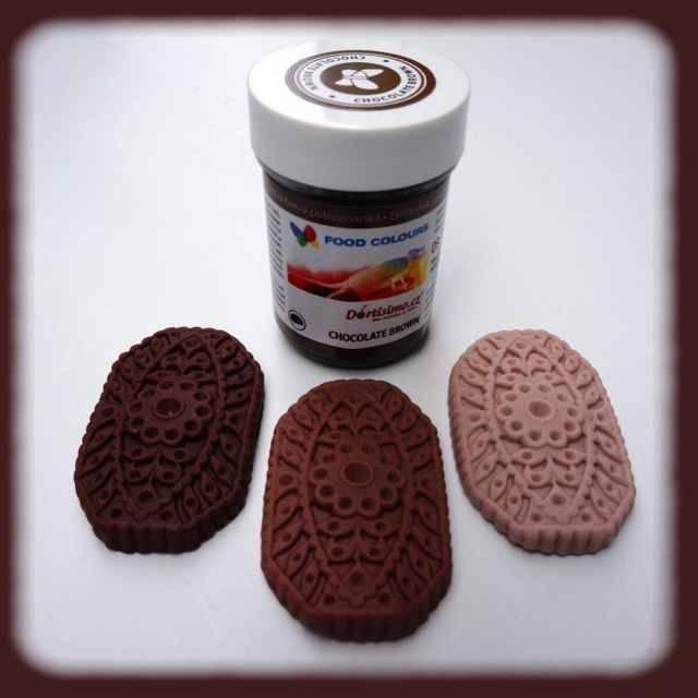 Gelová barva (Chocolate Brown) čokoládová 35 g - Food Colours