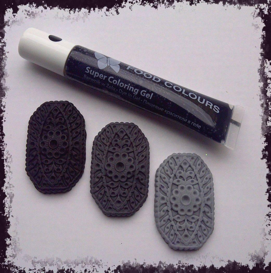 Gelová barva tuba (Black) černá 20 g - Food Colours
