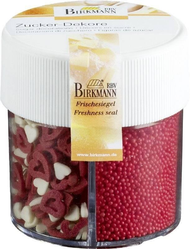 Cukrové sypání – srdíčka a perličky - Birkmann