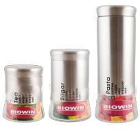 Dóza na potraviny 1,8l - stříbrná - BIOWIN