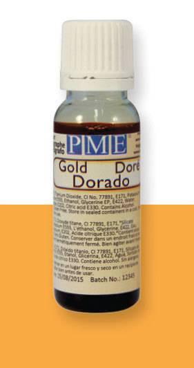 PME airbrush barva lesklá – zlatá - PME