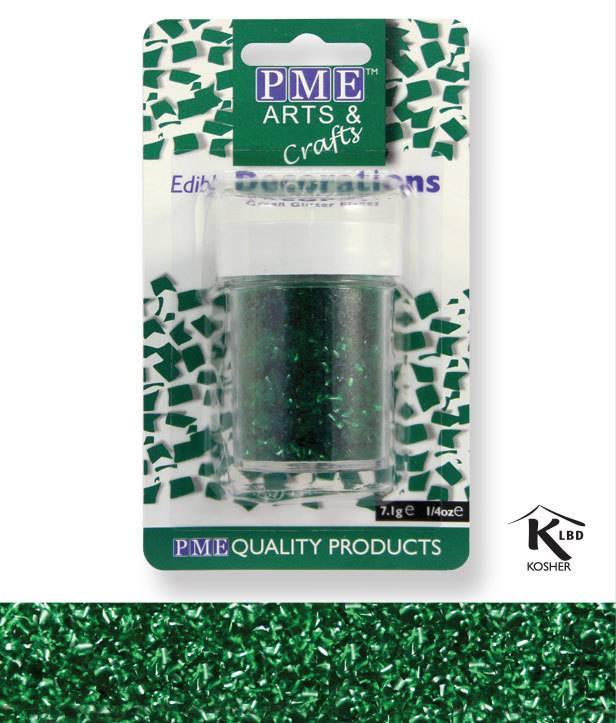 Sypání Glitter Flakes - zelené - PME