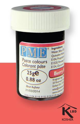 PME gelová barva - červená - PME