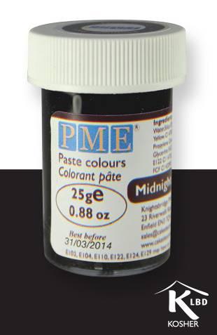 PME gelová barva - černá - PME
