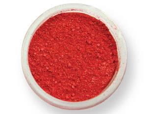Prachová barva lesklá – červená 2g - PME