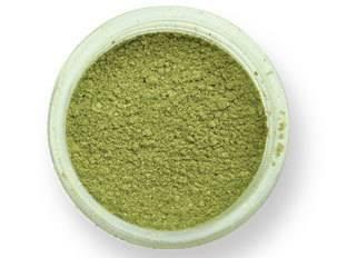 Prachová barva lesklá – zářivý olivín 2g - PME