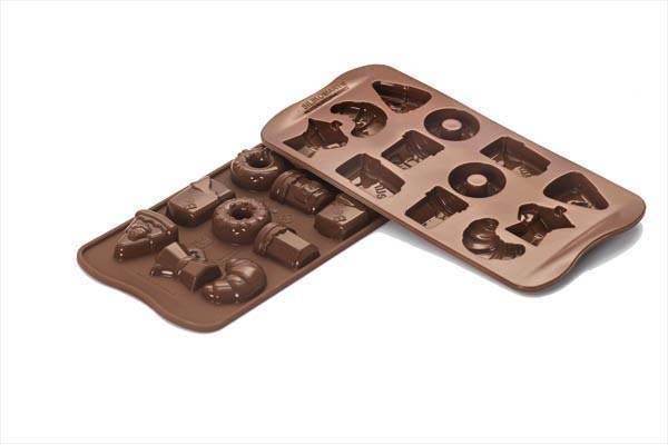 Silikonová forma na čokoládu – snídaně - Silikomart