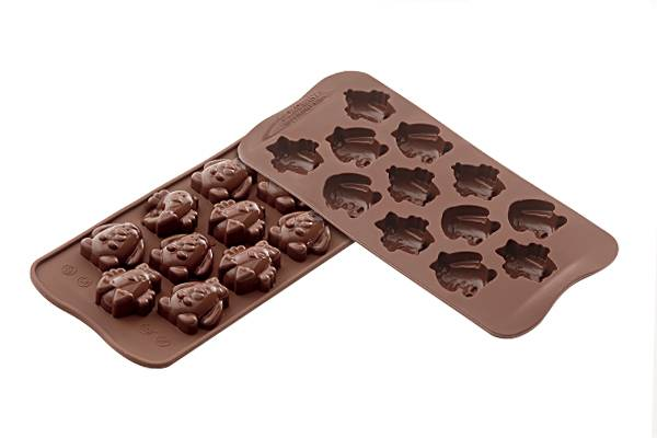 Silikonová forma na čokoládu – velikonoční zvířátka - Silikomart