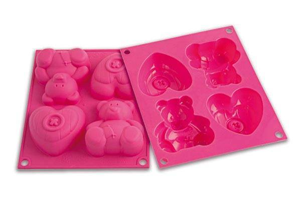 Silikonová forma na dortíky – medvídek - Silikomart