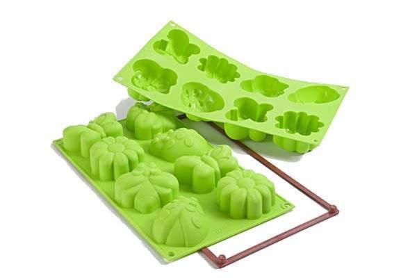 Veselá forma na dortíky – jarní zahrada - Silikomart