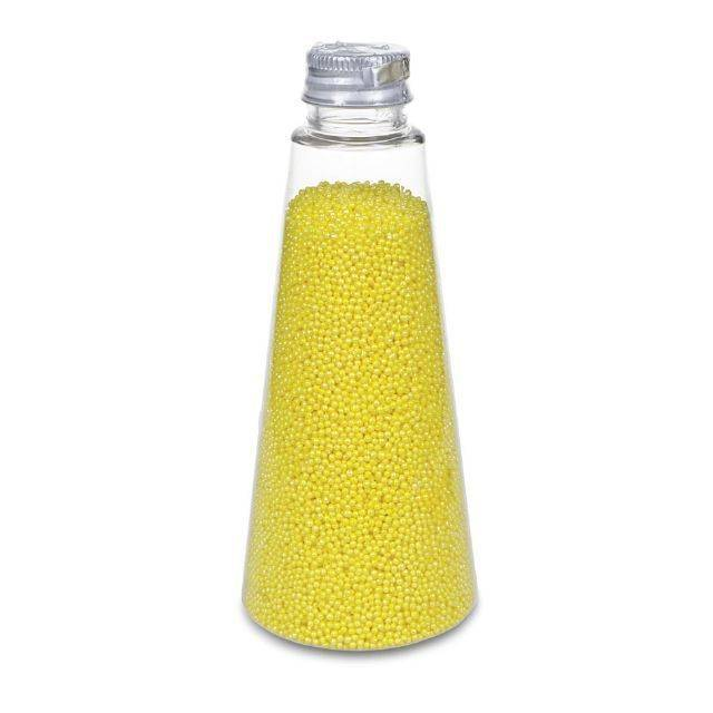 Ozdobné perličky žluté s leskem - Stadter
