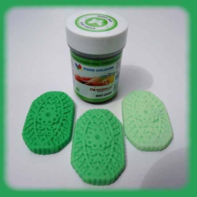 Gelová barva (Mint Green) mentolově zelená 35 g - Food Colours