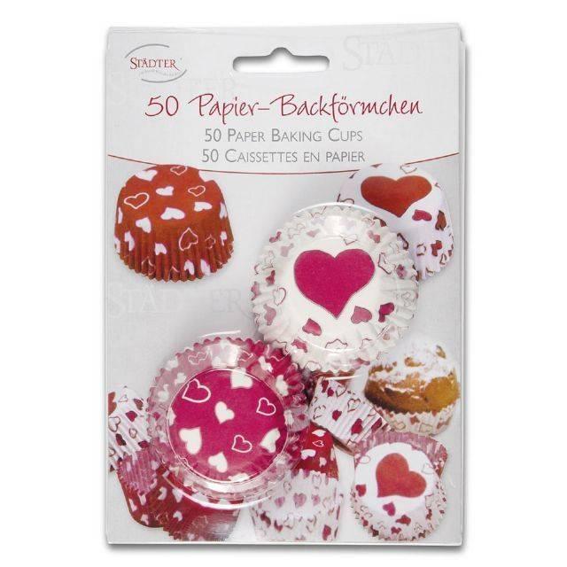Papírové pečicí formičky - srdíčka - Stadter