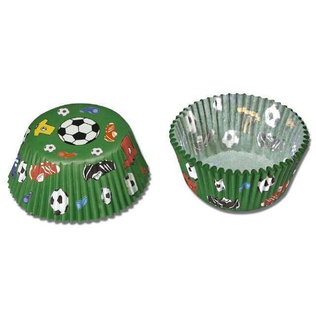 Papírové pečicí formičky - mini, fotbal, 50 ks - Stadter