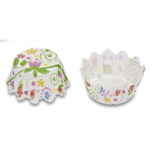Papírové pečicí formičky - květinová zahrada - Stadter