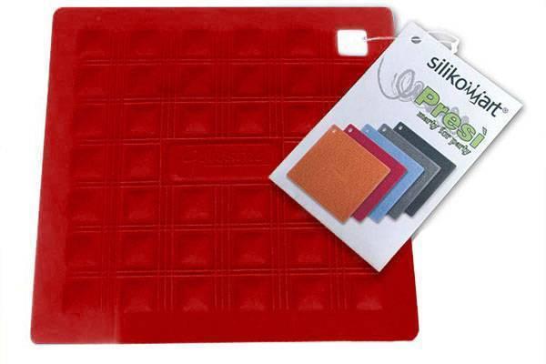 Silikonová podložka pod nádobí – červená - Silikomart
