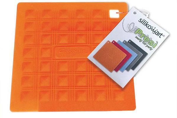 Silikonová podložka pod nádobí – oranžová - Silikomart