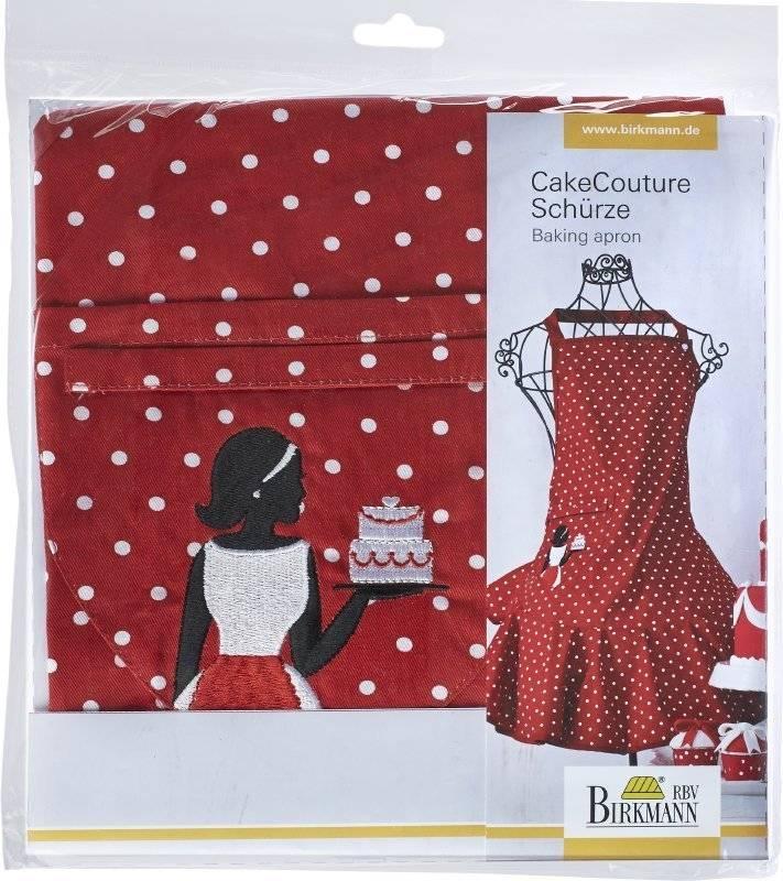 Červená zástěra CAKE COUTURE - Birkmann