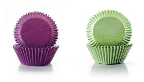 Papírové košíčky fialové a zelené 7,5 x 4cm - Ibili