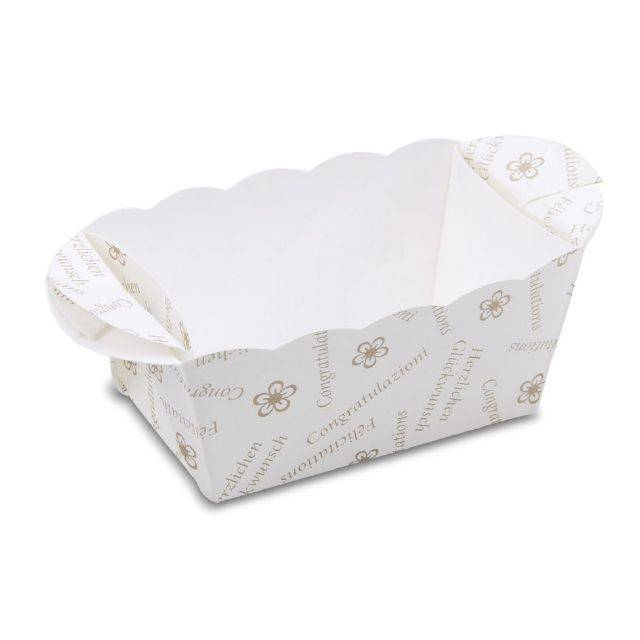 Papírová formička na pečení 7cm x 4cm bílá - Stadter