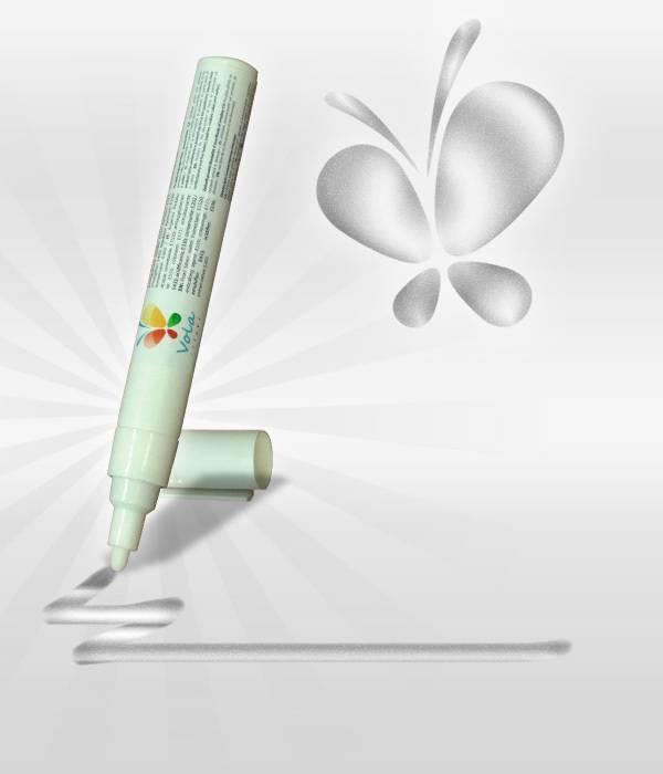 Fix s jedlou barvou 45ml - perleťová stříbrná - Vola colori