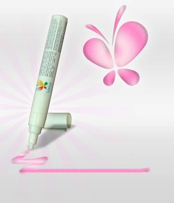 Fix s jedlou barvou 45ml - růžová, perleťová - Vola colori