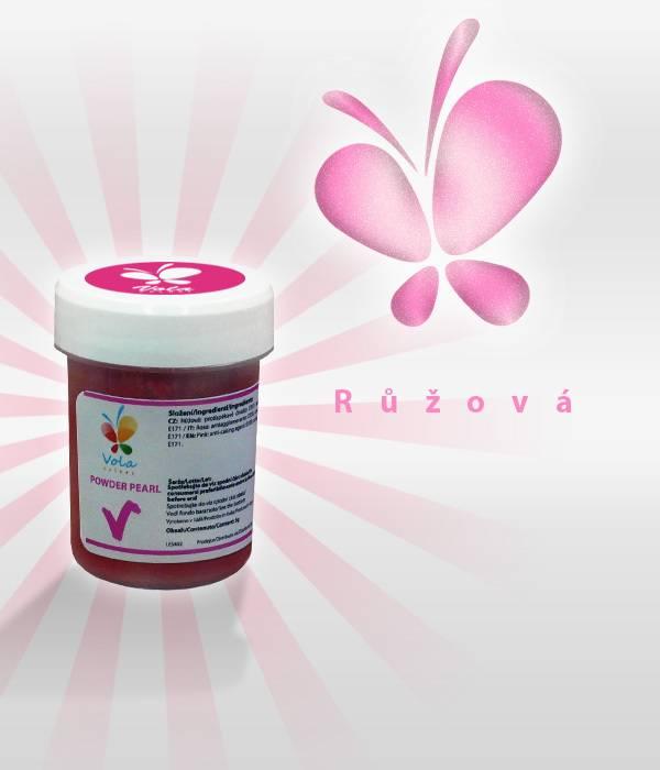 Prachová barva 5g - růžová, perleťová - Vola colori