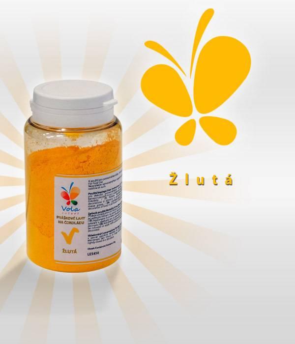 Prachová barva na čokoládu 25g - žlutá - Vola colori