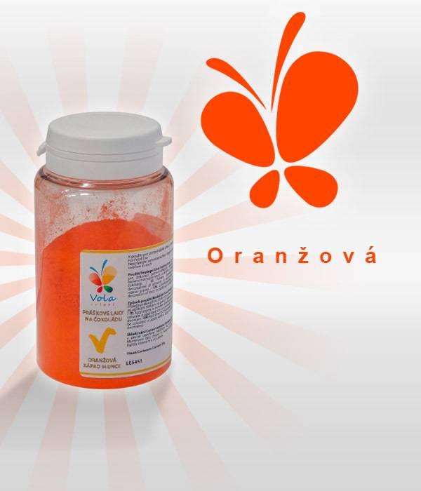 Prachová barva na čokoládu 25g - oranžová - Vola colori
