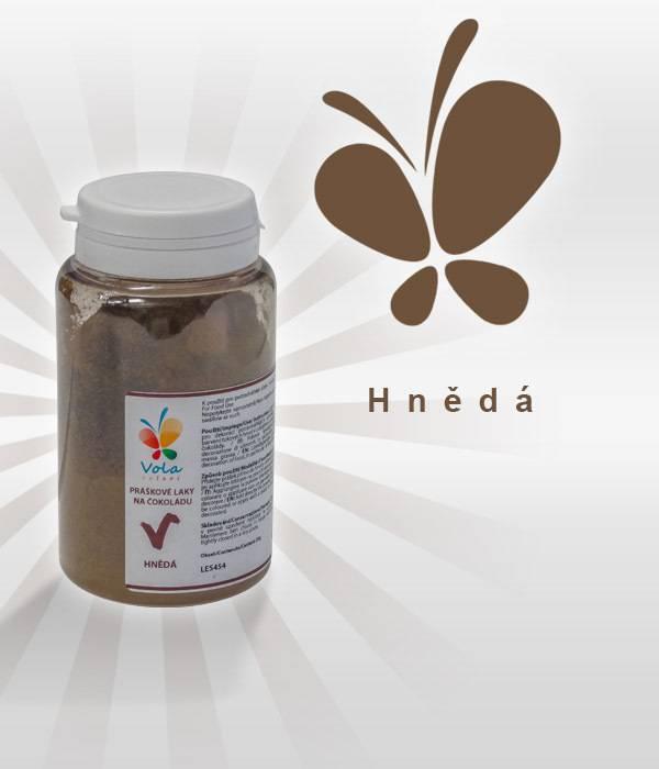 Prachová barva na čokoládu 25g - hnědá - Vola colori