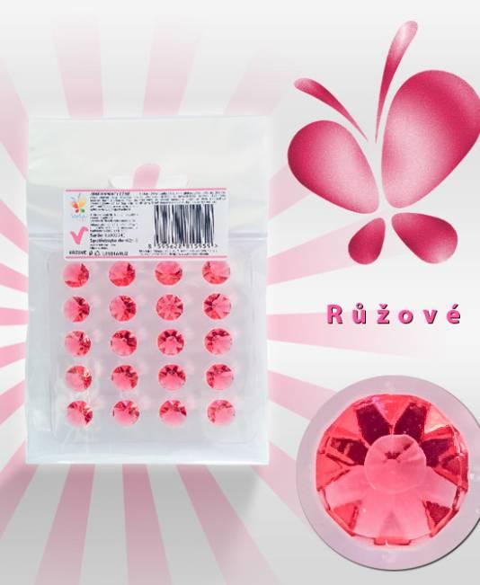 Jedlé diamanty z želé - růžové - Vola colori