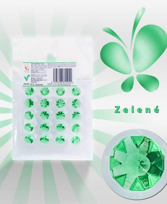 Jedlé diamanty ze želé - zelé - Vola colori