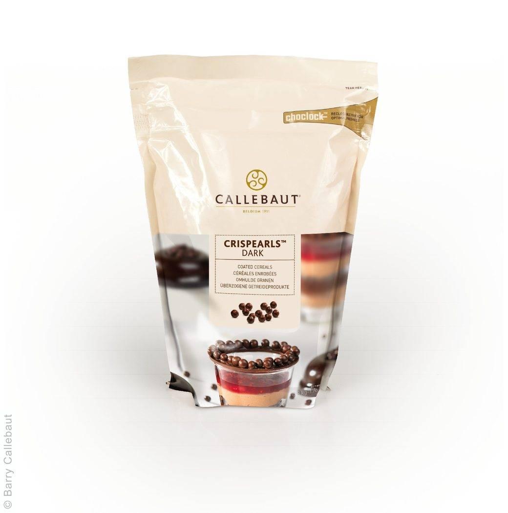 Křupinky v čokoládě 0,8Kg - hořké - Callebaut