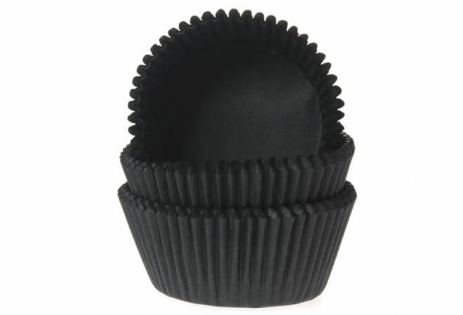 Papírový košíček na muffiny černý 50ks - House of Marie