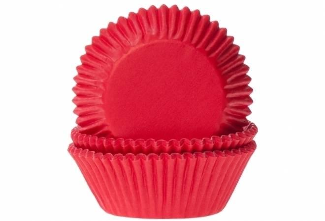 Papírový košíček na muffiny červený 50ks - House of Marie