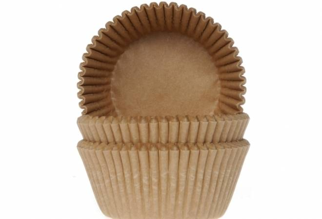 Košíček na muffiny papírový přírodní 50ks - House of Marie